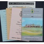1962 Open Programme Old Troon + 3 Draw Sheets