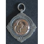 Solid Silver & Gold Football Medal 1929-30