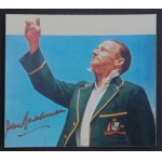 Don Bradman Signed Photo Coin Toss Adelade Oval 1936-37 Series