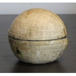 Early Line Cut Gutty Golf Ball Travelling Inkwell c1890
